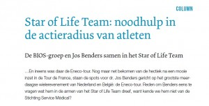 Star of Life Team noodhulp in de actieradius van atleten